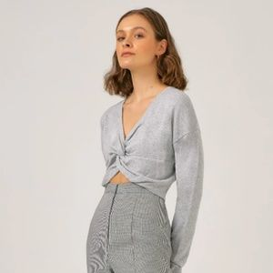 NWT THE FIFTH VEIL KNIT Grey Small